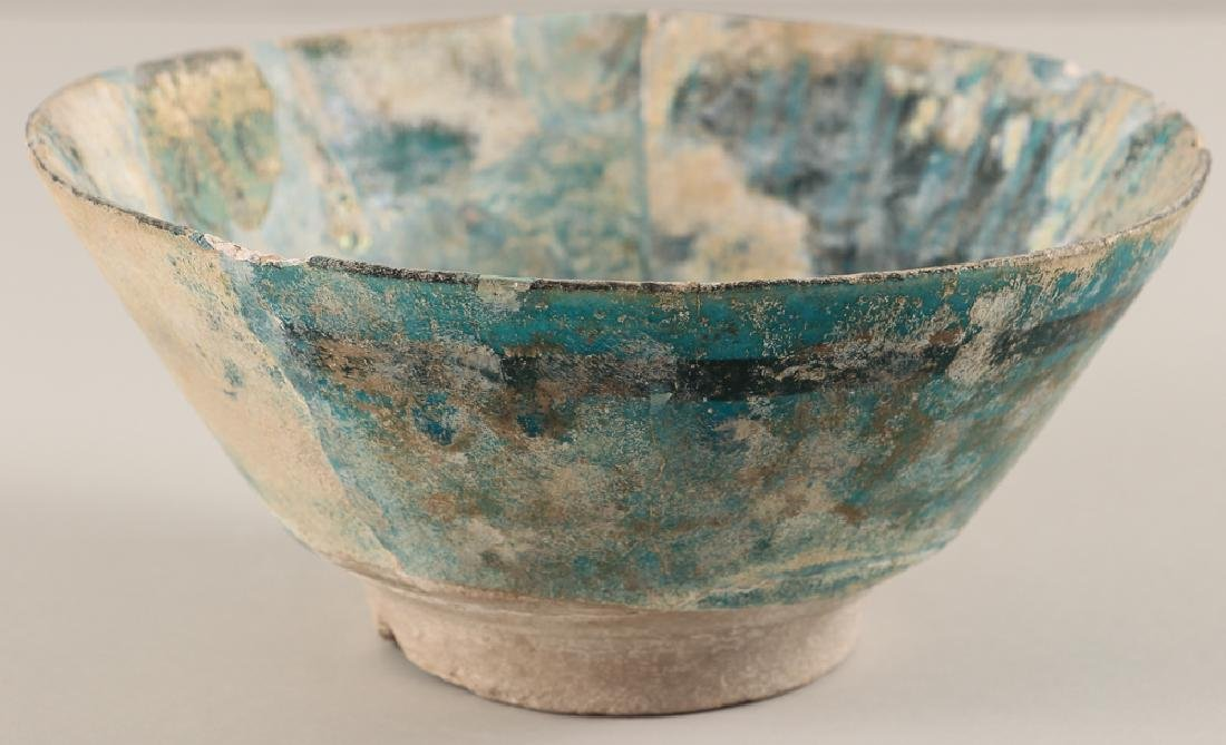 SULTANABAD ISLAMIC Turquoise POTTERY BOWL - 4