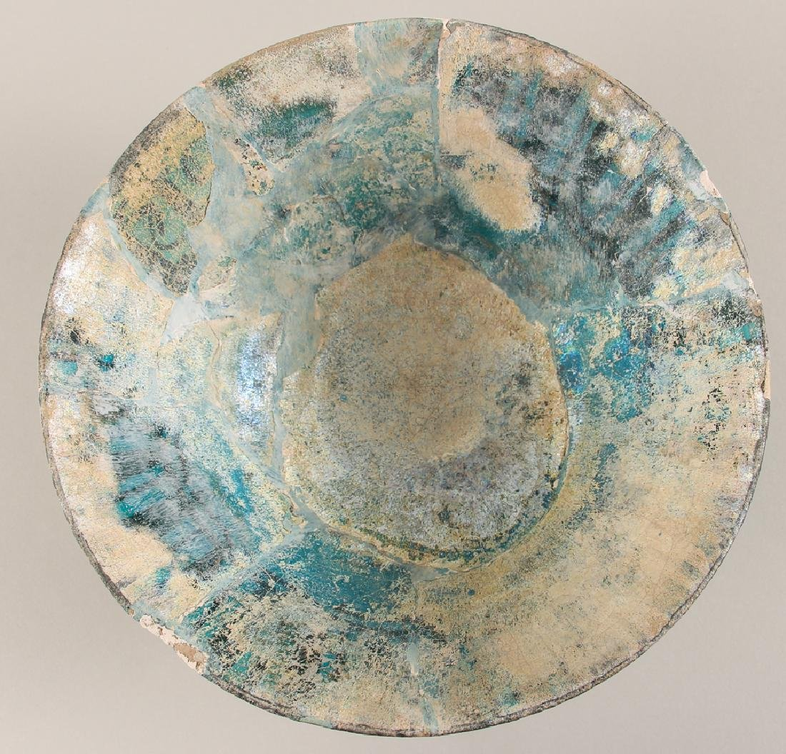 SULTANABAD ISLAMIC Turquoise POTTERY BOWL - 5