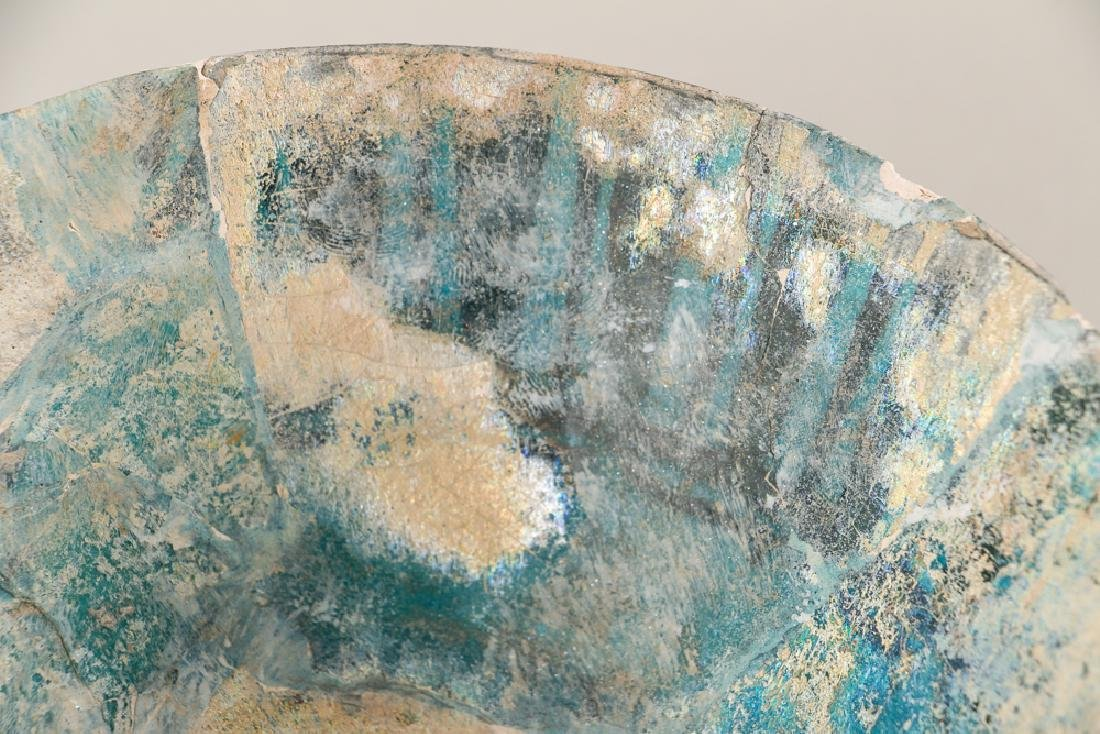 SULTANABAD ISLAMIC Turquoise POTTERY BOWL - 6