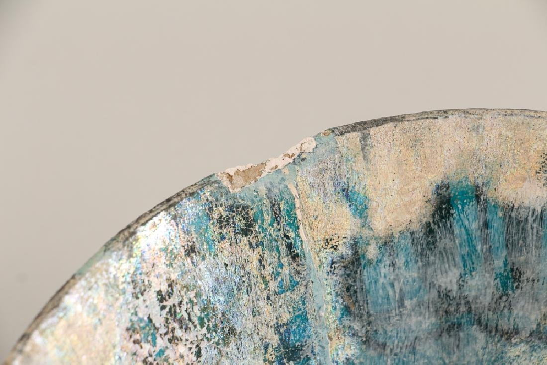 SULTANABAD ISLAMIC Turquoise POTTERY BOWL - 7