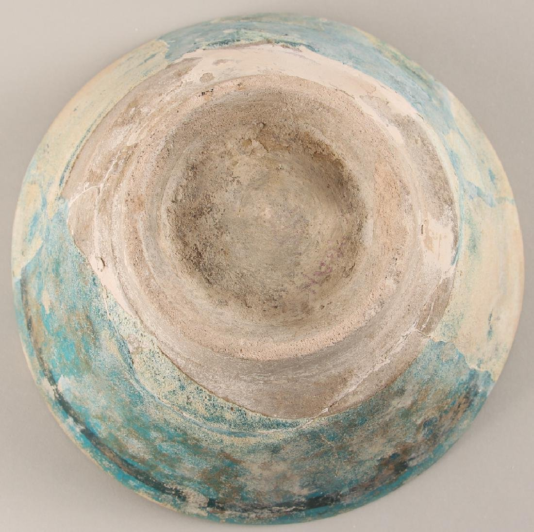 SULTANABAD ISLAMIC Turquoise POTTERY BOWL - 9