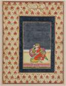 Indian Miniature Painting Two Noble Lovers