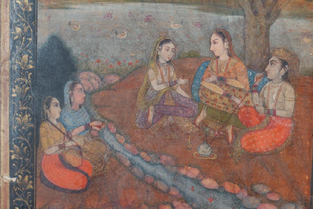 Indian Miniature Painting Princess Listening to Music - 3