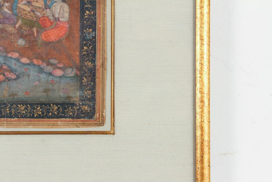 Indian Miniature Painting Princess Listening to Music - 4