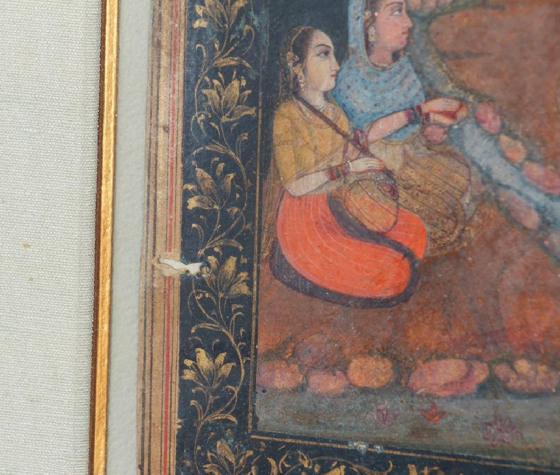 Indian Miniature Painting Princess Listening to Music - 6