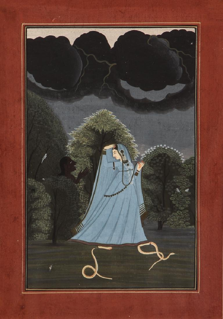 Indian Miniature Painting from the Nayika series