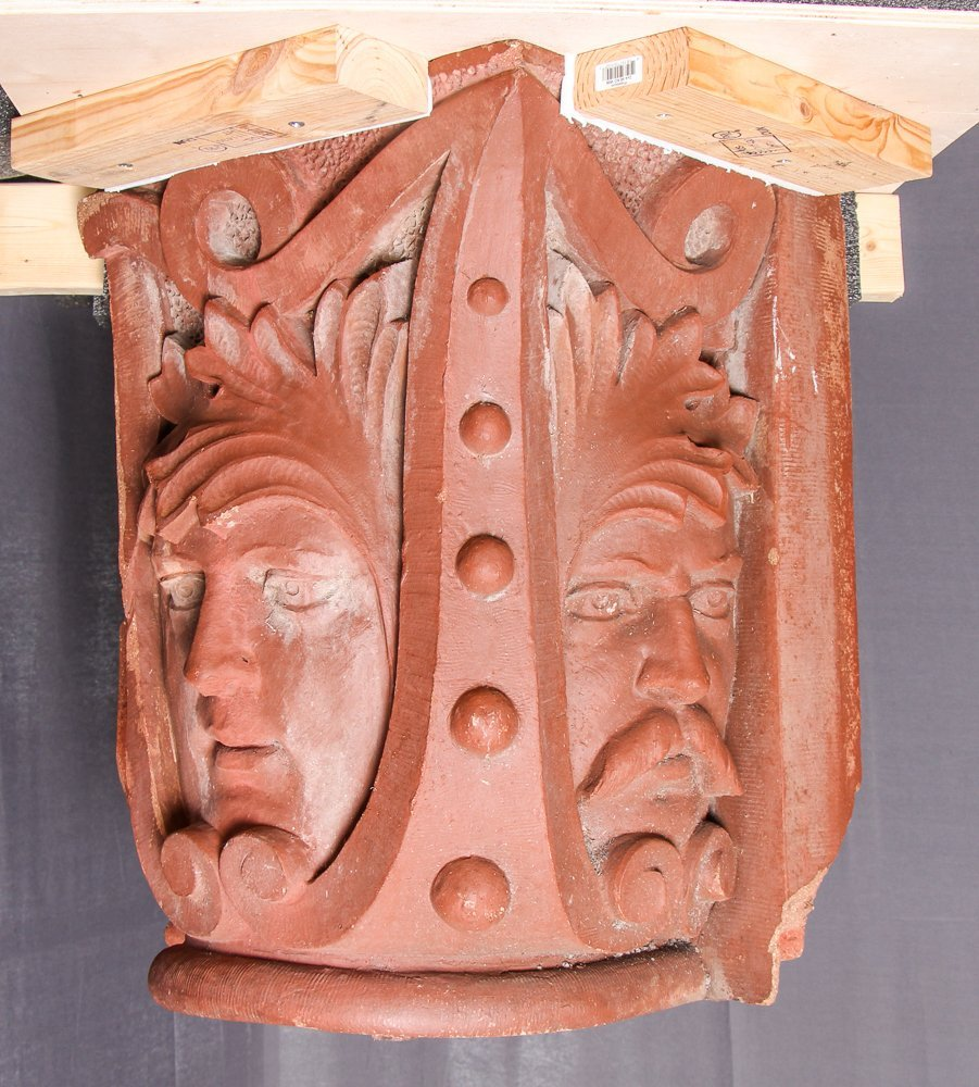 Native American Face Column Capital from Church of the - 3