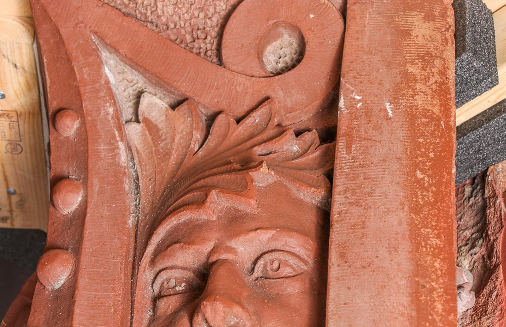 Native American Face Column Capital from Church of the - 5