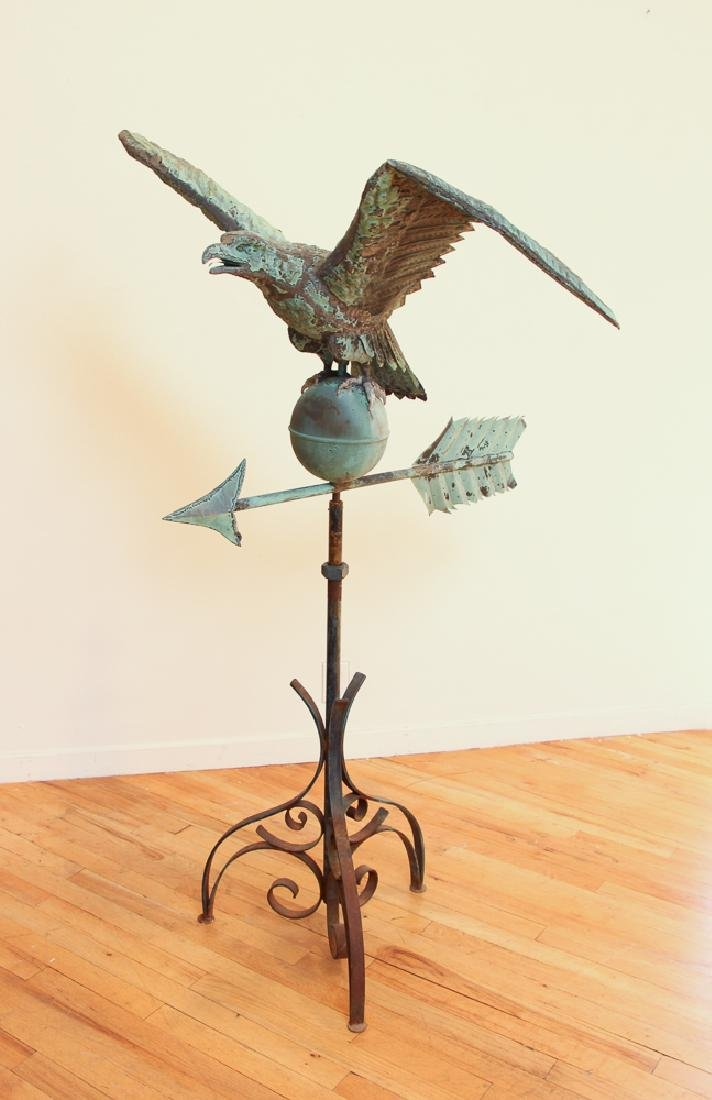 Spread Wing Eagle Weathervane with full bird modelled