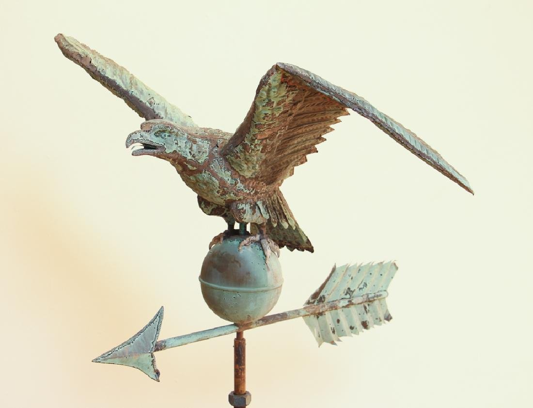 Spread Wing Eagle Weathervane with full bird modelled - 2
