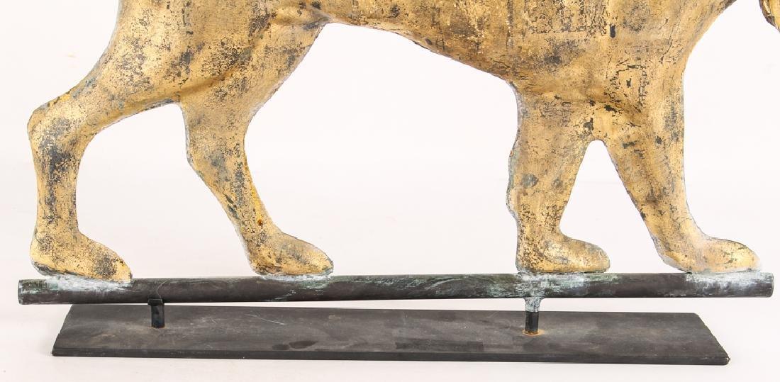 Washburn Attrib. Full Body Gilt Copper Weathervane - 5