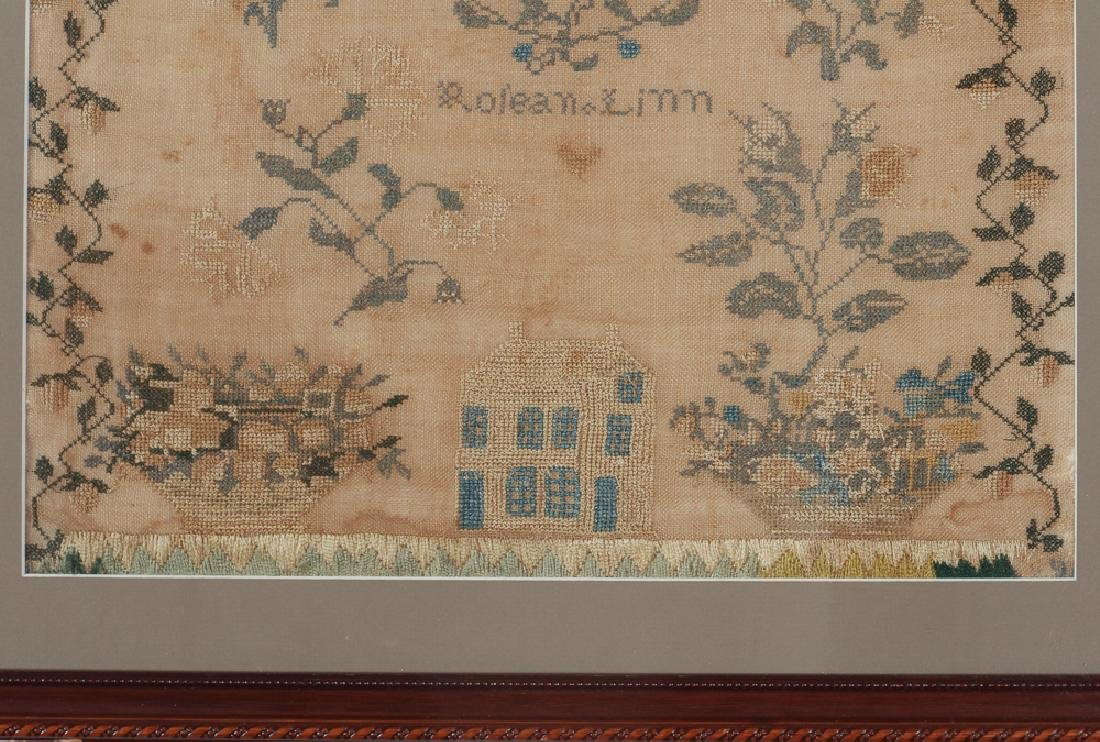 American Needlework Sampler Possibly Quaker - 4
