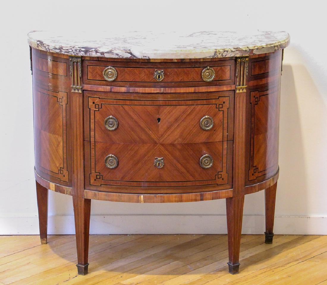Antique French Demilune Commode