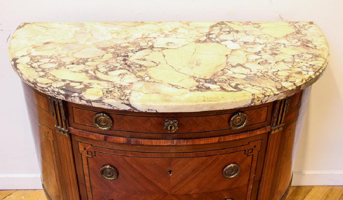 Antique French Demilune Commode - 4