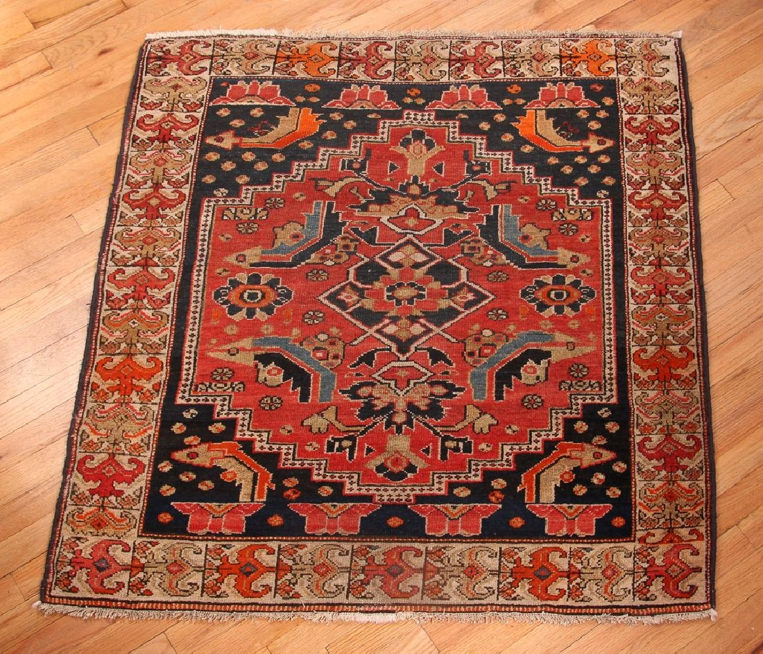 Nearly Square Antique Oriental Rug