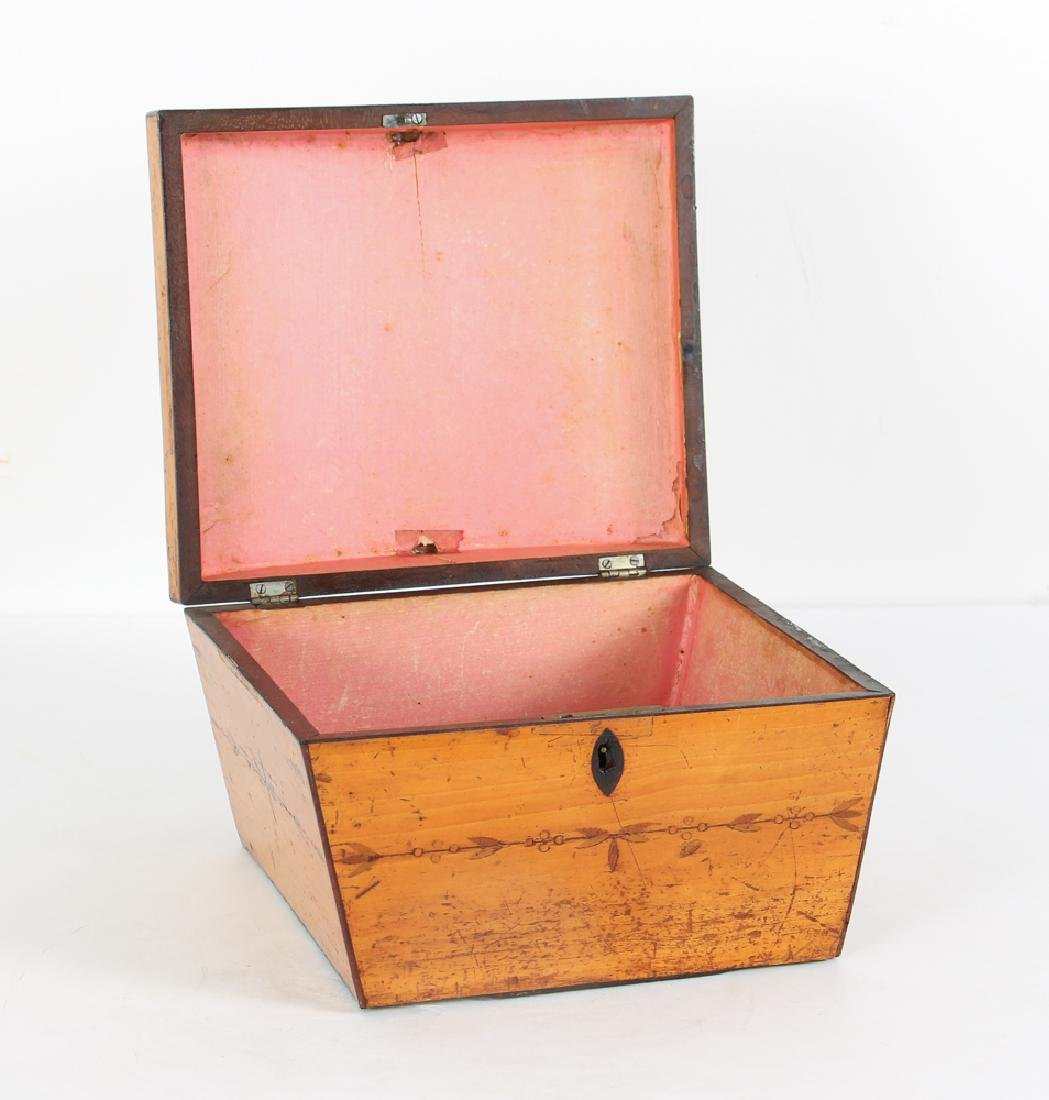 Antique Inlaid Sewing Box - 2