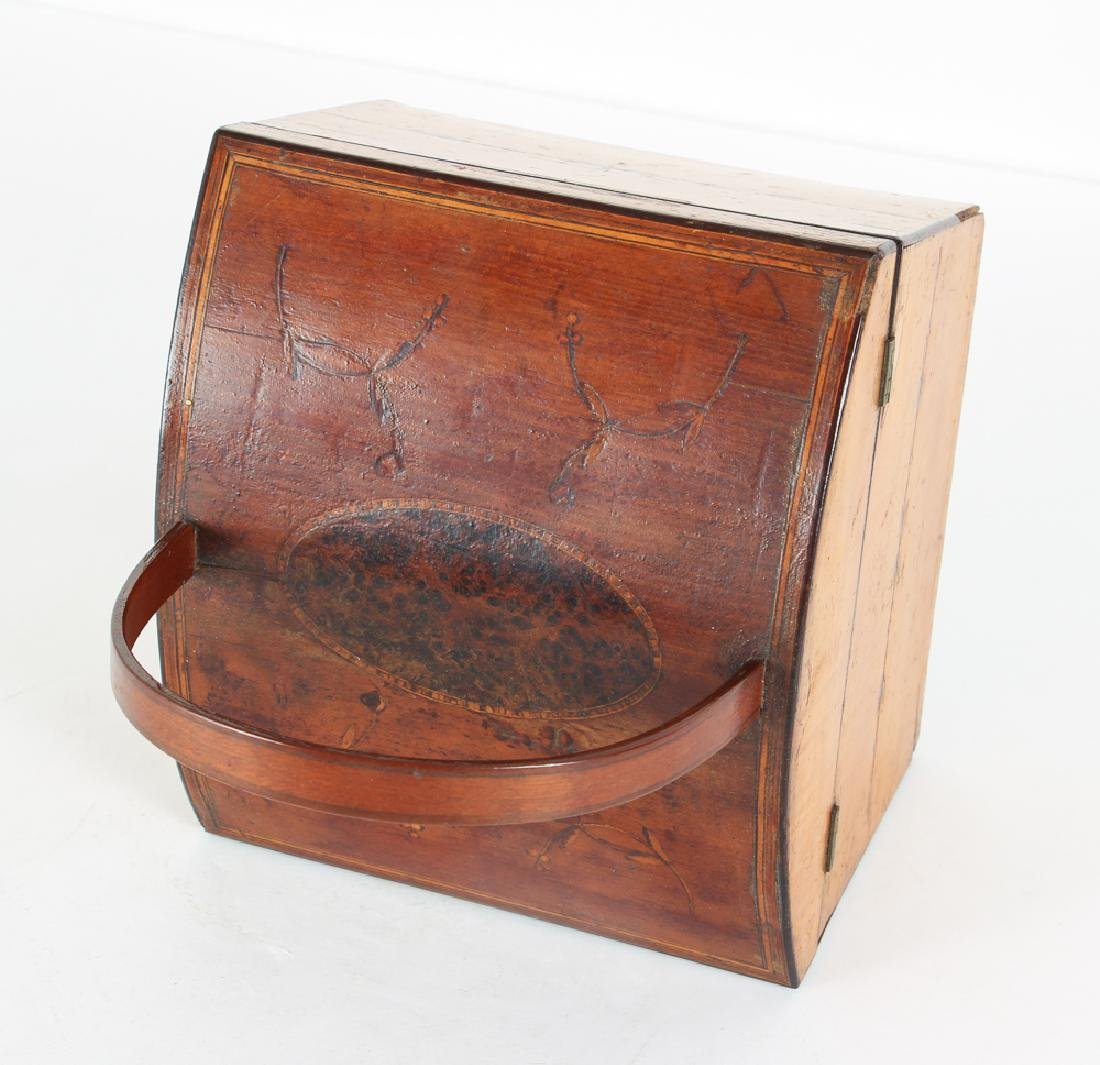 Antique Inlaid Sewing Box - 4