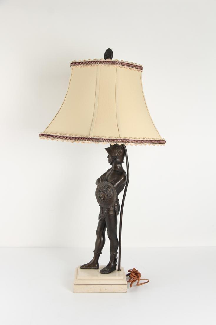 Ancient Greek Soldier Bronze Lamp - 4