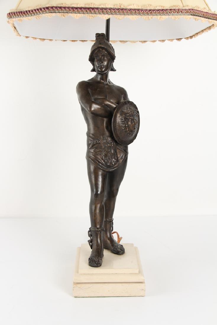 Ancient Greek Soldier Bronze Lamp - 6