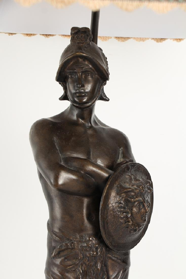 Ancient Greek Soldier Bronze Lamp - 7