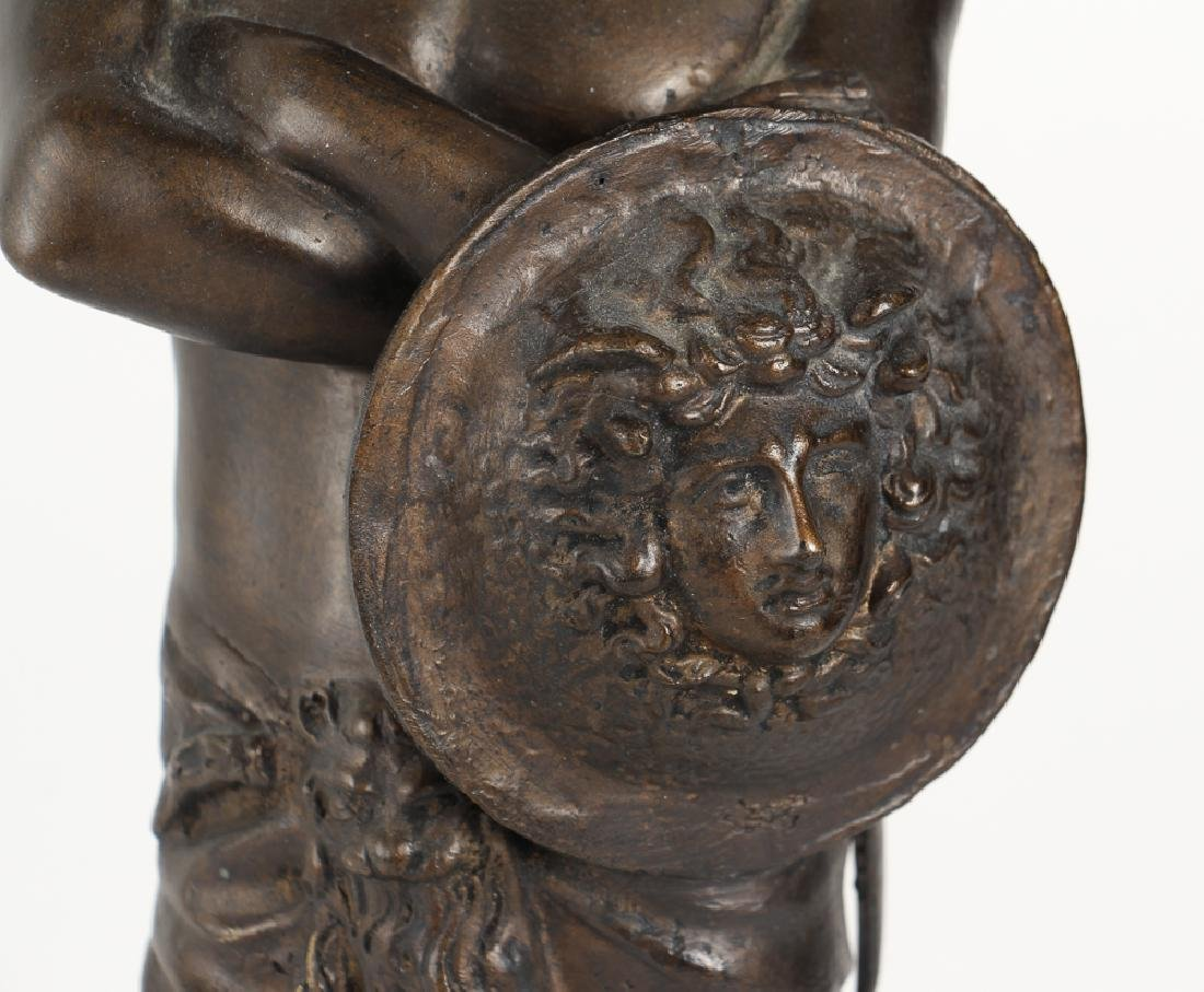 Ancient Greek Soldier Bronze Lamp - 8