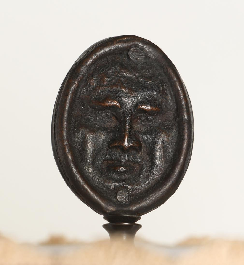 Ancient Greek Soldier Bronze Lamp - 9
