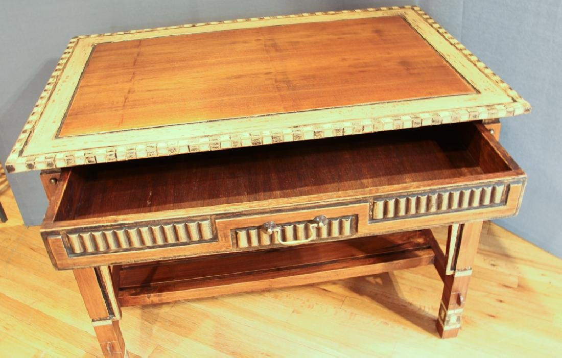 Lisbon Decorated and Carved Desk and Chair Set - 3