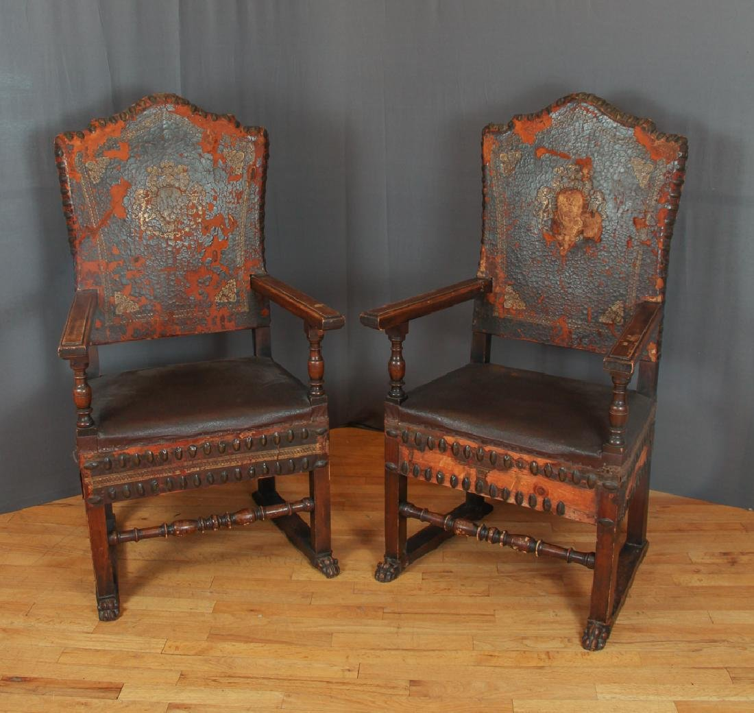 Pair of Feudal Style Arm Chairs