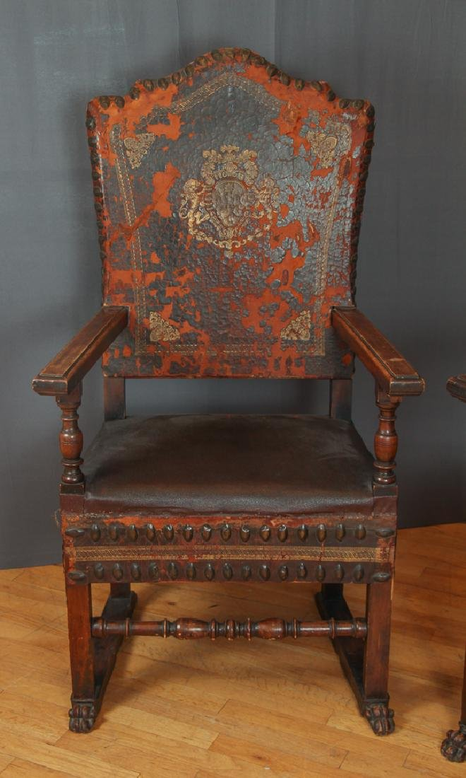 Pair of Feudal Style Arm Chairs - 2