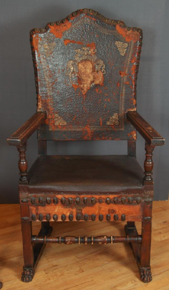 Pair of Feudal Style Arm Chairs - 7