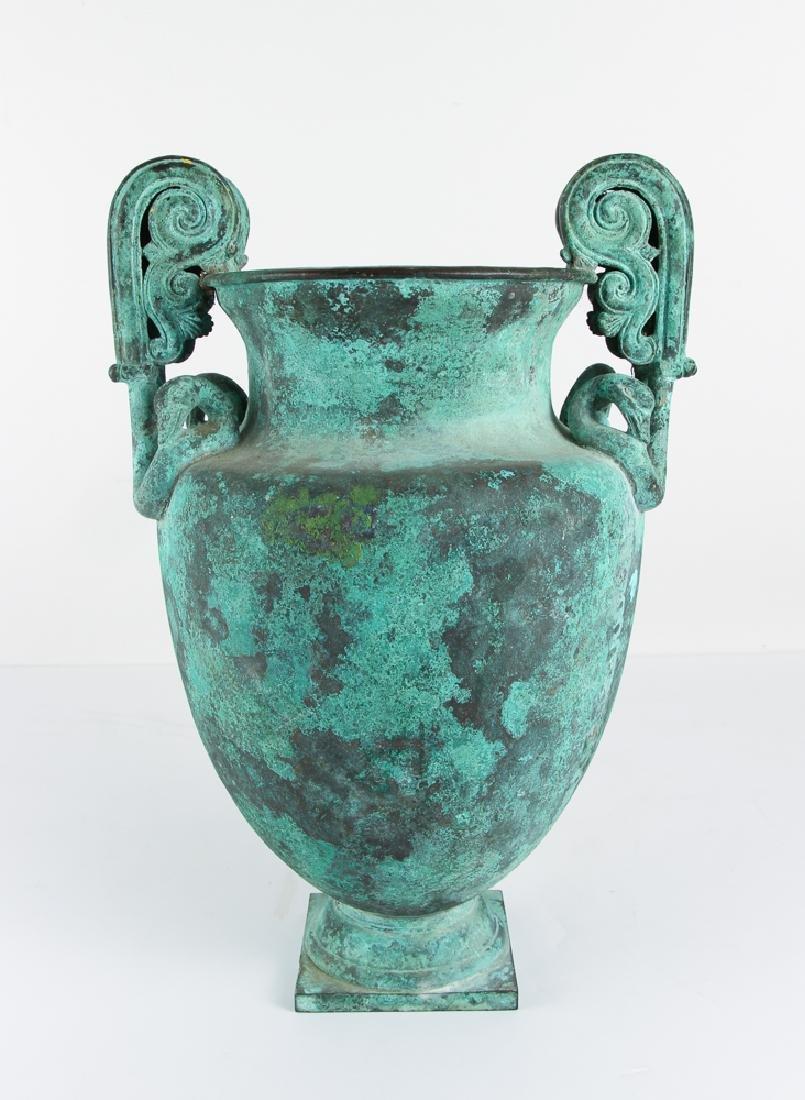 Roman Revival Neo Classical Bronze Garden Urn