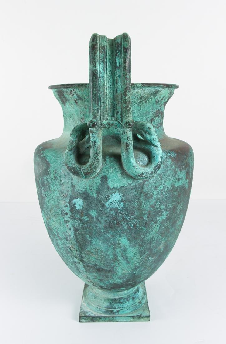 Roman Revival Neo Classical Bronze Garden Urn - 2