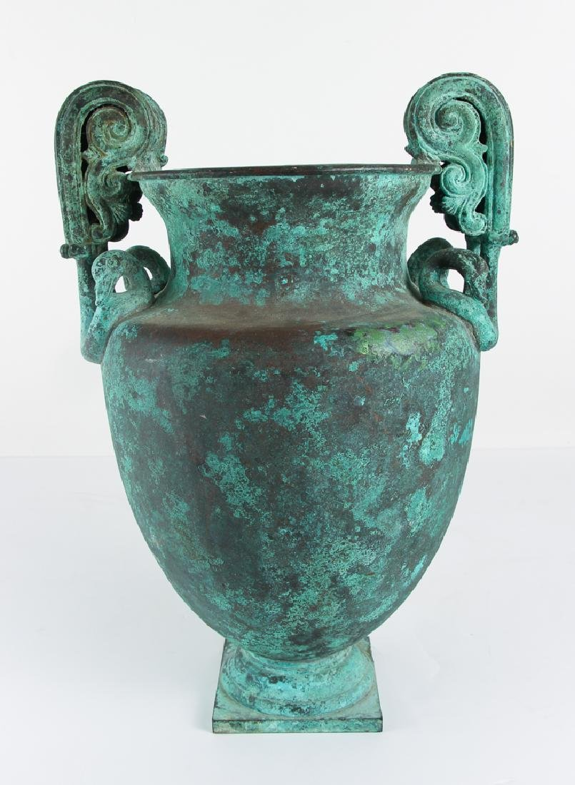 Roman Revival Neo Classical Bronze Garden Urn - 3