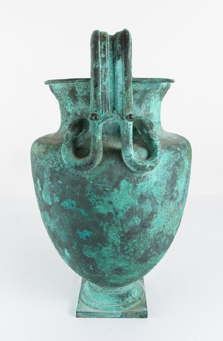 Roman Revival Neo Classical Bronze Garden Urn - 4