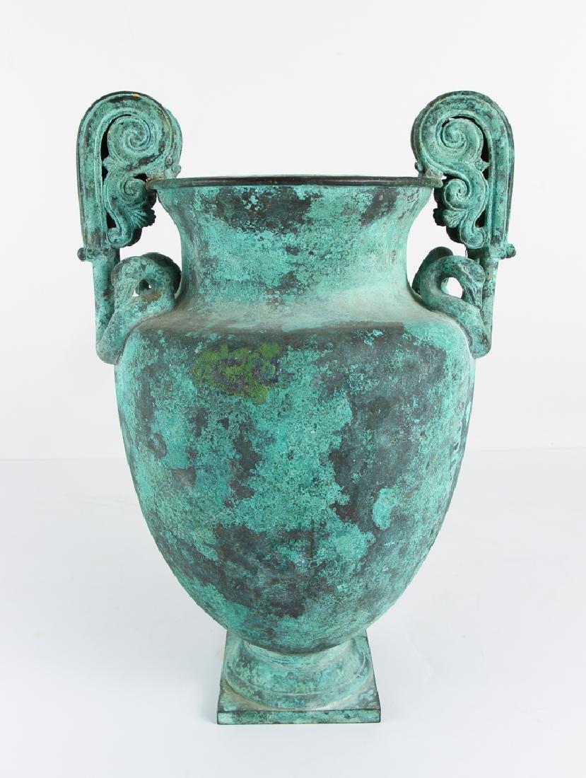 Roman Revival Neo Classical Bronze Garden Urn - 5