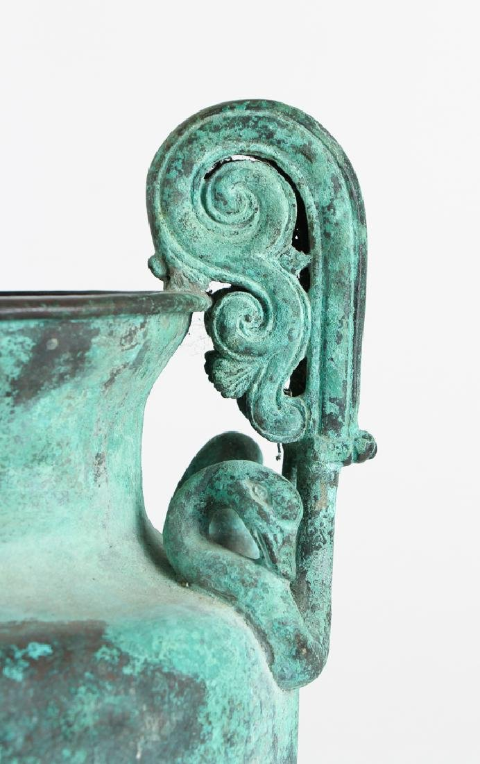 Roman Revival Neo Classical Bronze Garden Urn - 6