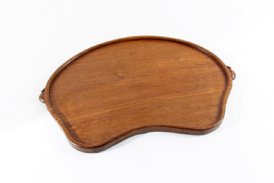 A Robert 'Mouseman' Thompson Oak Tea  Tray