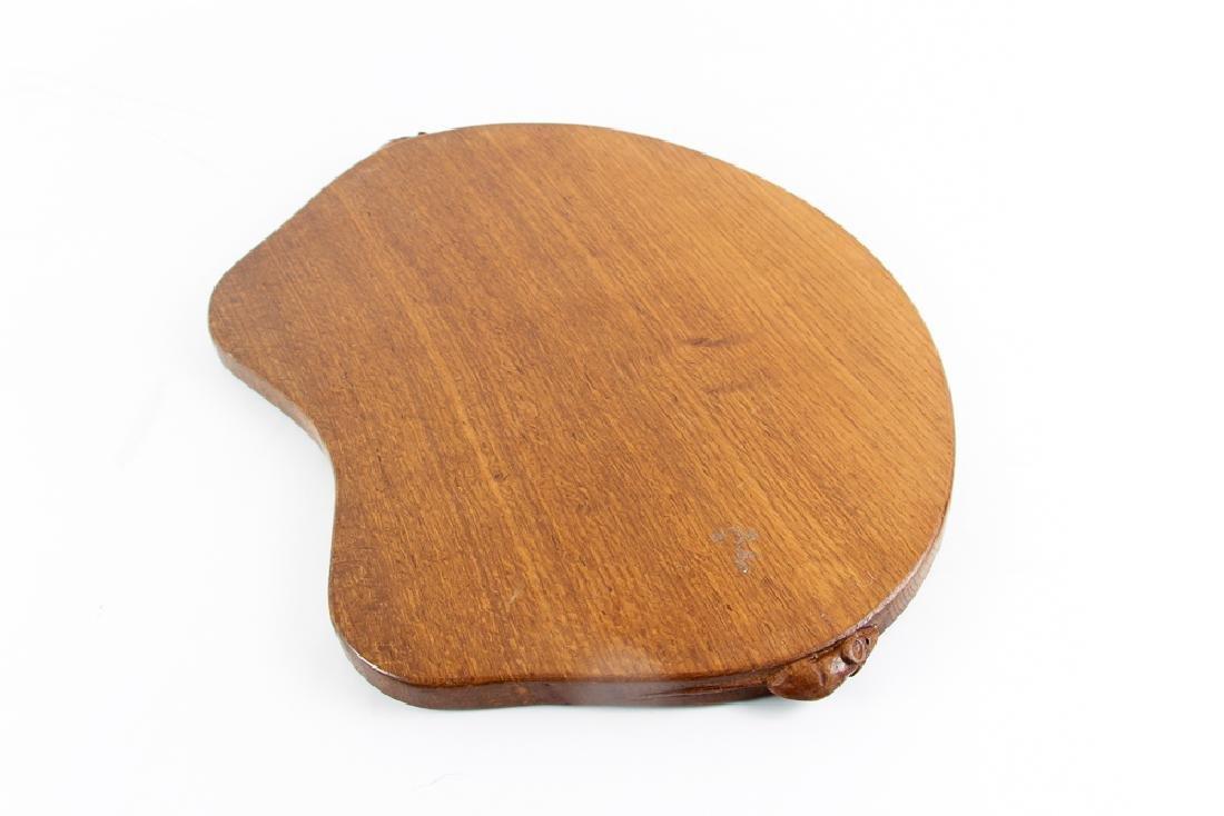 A Robert 'Mouseman' Thompson Oak Tea  Tray - 4