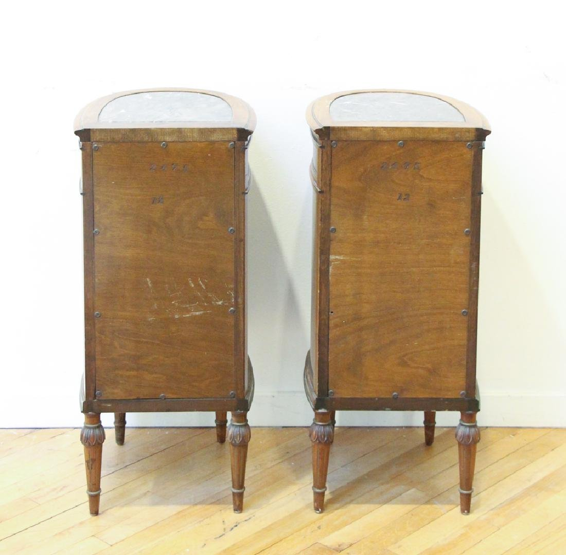 Two French Style Marble Top Night Stands - 9