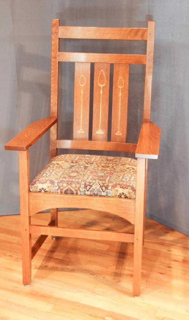 Stickley Mission Oak Armchair after Harvey Ellis Design - 2