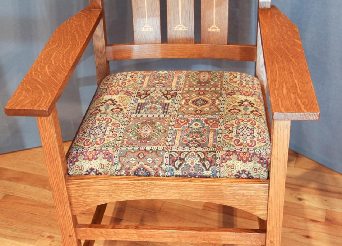 Stickley Mission Oak Armchair after Harvey Ellis Design - 4