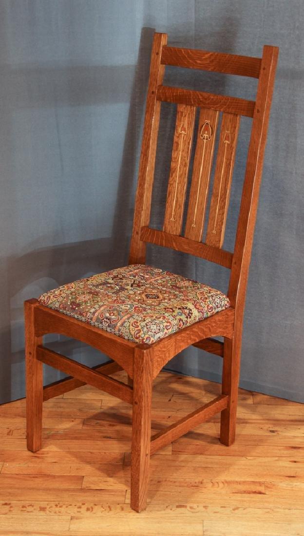 Stickley Mission Oak Chair after Harvey Ellis Design