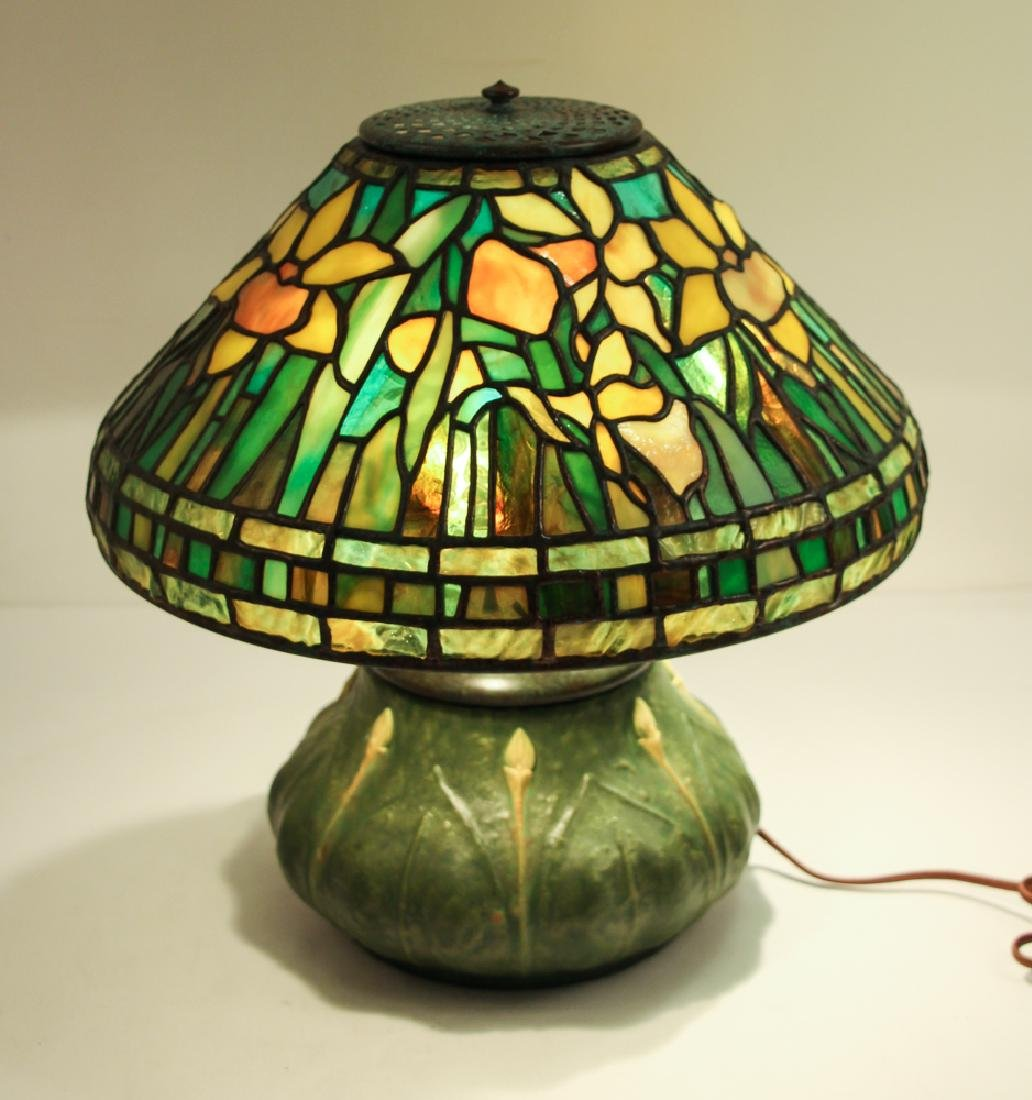 Century Studios Daffodil Leaded Glass Lamp - 3