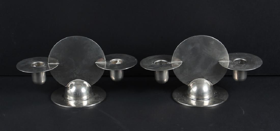 Two Pair Chase Chrome Art Deco Candelabra - 3