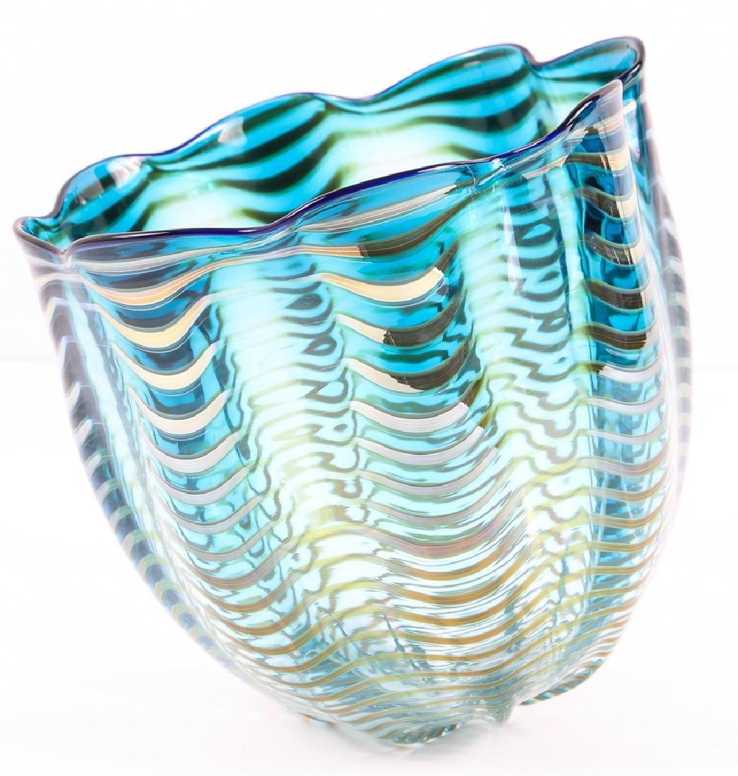 DALE CHIHULY; PORTLAND PRESS Blown glass Seaform vase