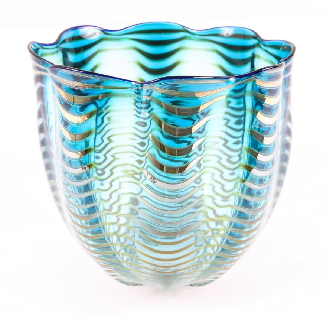DALE CHIHULY; PORTLAND PRESS Blown glass Seaform vase - 2