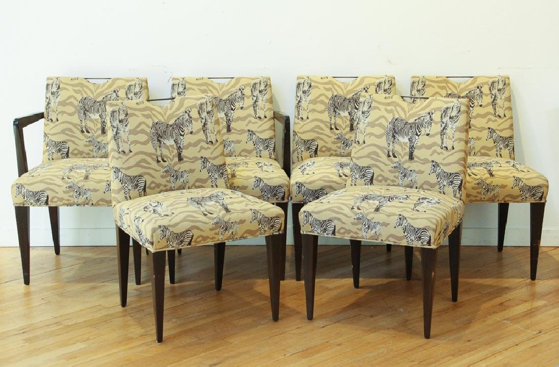 6 Edward Wormley Dunbar upholstered Dining Chairs,