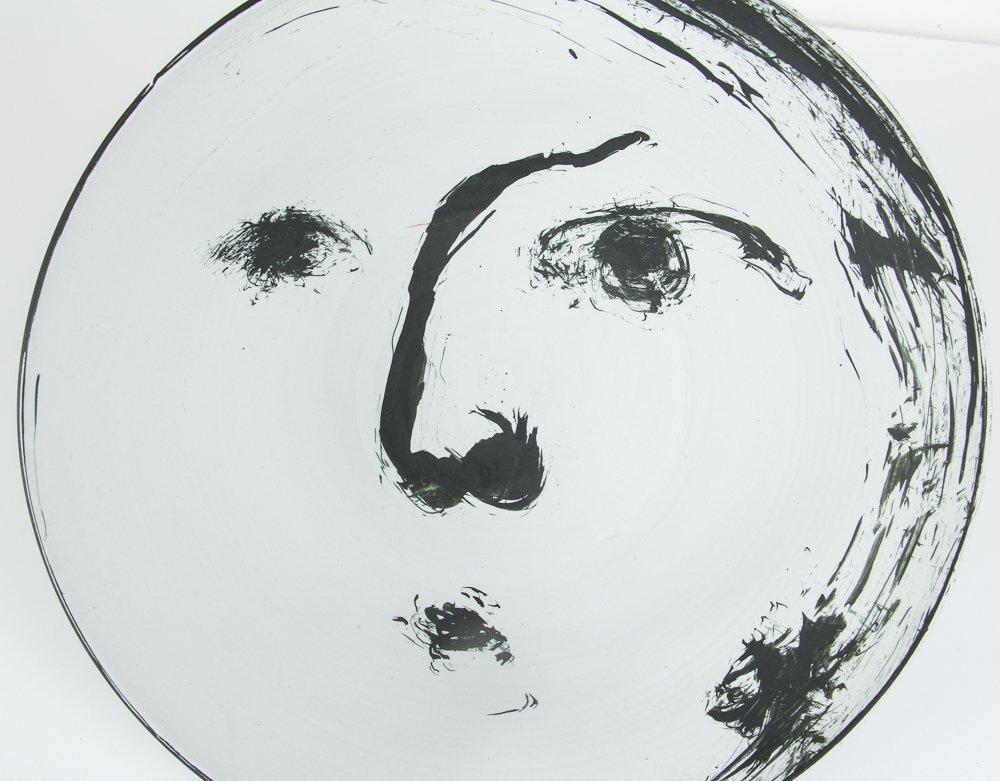 Ed Eberle large porcelain Moon Bowl