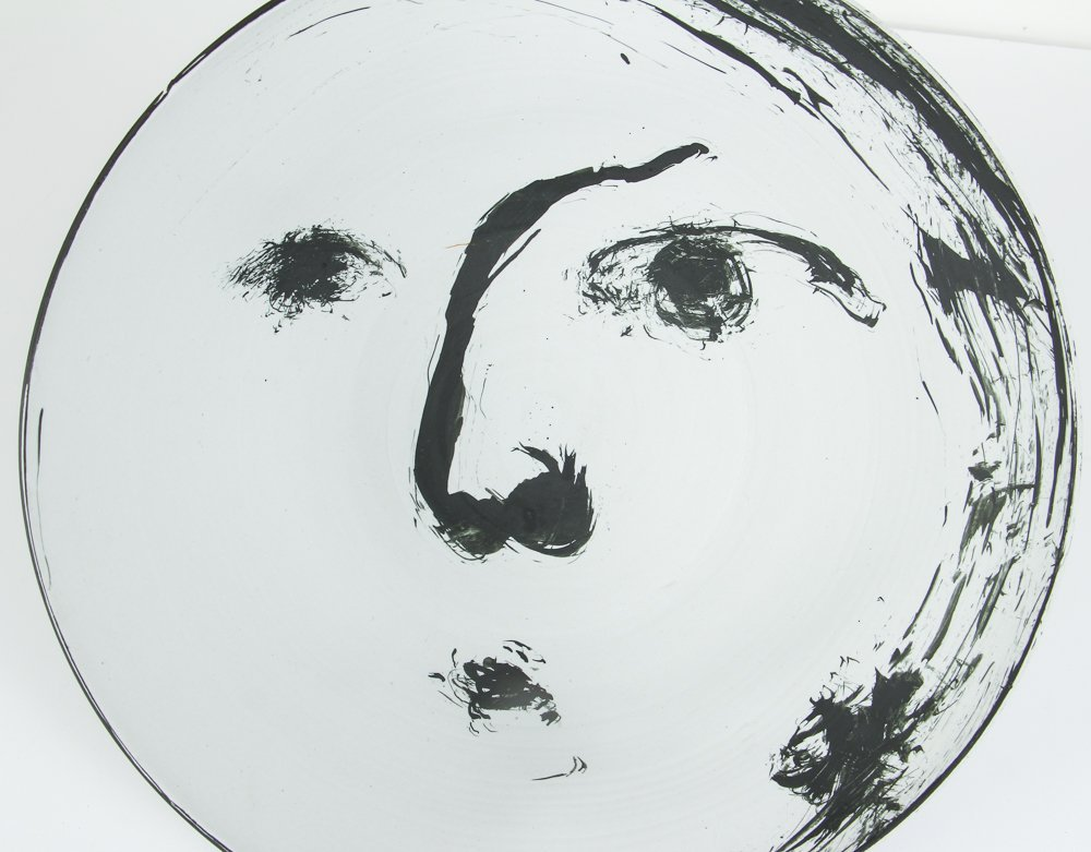 Ed Eberle large porcelain Moon Bowl