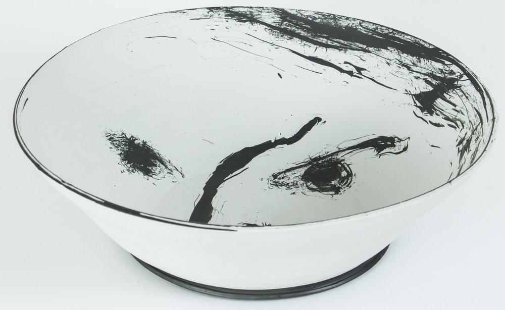 Ed Eberle large porcelain Moon Bowl - 2